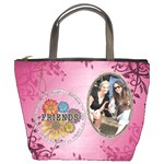 Friends Pink Floral Bucket Bag
