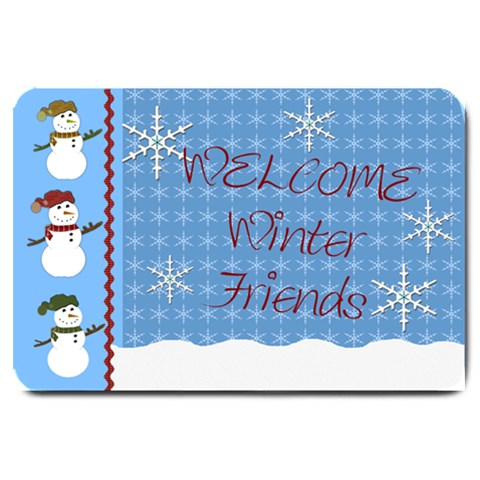 Welcome Winter Friends Door Mat By Danielle Christiansen   Large Doormat   W66q26hpxk21   Www Artscow Com 30 x20  Door Mat