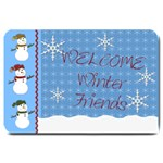 welcome winter friends door mat - Large Doormat