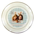 winter girl plate - Porcelain Plate