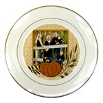 thanksgiving, fall plate - Porcelain Plate