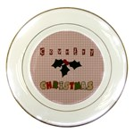country christmas plate - Porcelain Plate