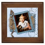 blueberry chocolate framed tile