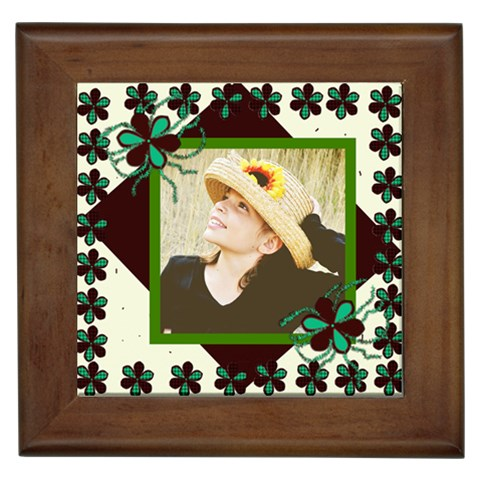Cutie Pie Framed Tile By Danielle Christiansen   Framed Tile   U5i4pjej3zua   Www Artscow Com Front