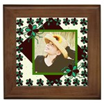 cutie pie framed tile