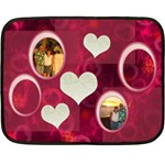 I Heart You Pink Love Mini Fleece Blanket