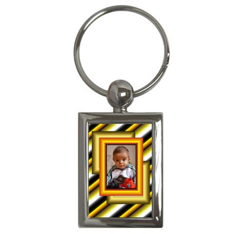 Gold Key Chain By Daniela   Key Chain (rectangle)   Imrh9m5fnh64   Www Artscow Com Front