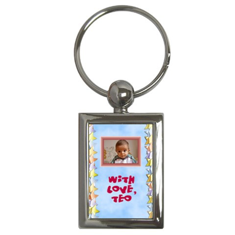 With Love   Key Chain By Daniela   Key Chain (rectangle)   7lfcdcel3p0f   Www Artscow Com Front