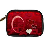 I Heart You Red Love Digital Camera Case - Digital Camera Leather Case