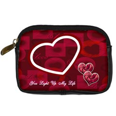 You Light Up My Life Red Love Digital Camera Case By Ellan   Digital Camera Leather Case   Txxdcdwssaea   Www Artscow Com Front