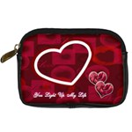 You Light Up My Life Red Love Digital Camera Case - Digital Camera Leather Case