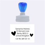 Samanta address - Rubber Stamp Oval