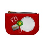 Red Custom Mini Coin Purse Template