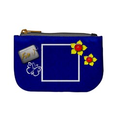 Blue Custom Mini Coin Purse Template By Purplekiss   Mini Coin Purse   Ln5mzbbf527d   Www Artscow Com Front