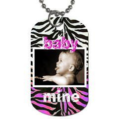 Baby Love, Baby Mine Pink N Zebra Dog Tag By Catvinnat   Dog Tag (two Sides)   Px6p1839hys0   Www Artscow Com Back