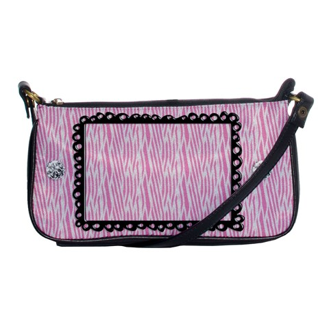 Pink Zebra Clutch By Mikki   Shoulder Clutch Bag   Hzuhvj4gnbw4   Www Artscow Com Front