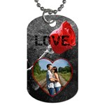 Rose Dog Tag - Dog Tag (One Side)