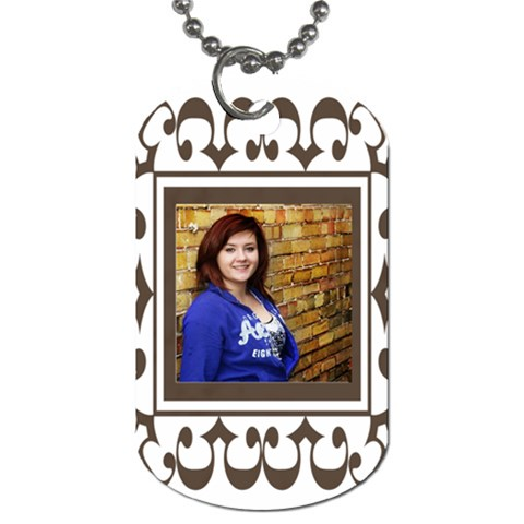 Brown Frame Tag By Amanda Bunn   Dog Tag (one Side)   4xlwvyfqdgck   Www Artscow Com Front