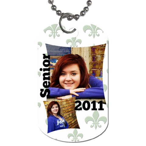 Senior Tag By Amanda Bunn   Dog Tag (one Side)   Dks75ou9g48k   Www Artscow Com Front