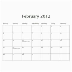 Our Calendar By Sarah   Wall Calendar 11  X 8 5  (18 Months)   Ug64y9vpdbku   Www Artscow Com Feb 2012