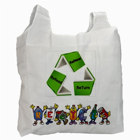 Library Bag By Smd   Recycle Bag (one Side)   97xcsi2lxis1   Www Artscow Com Front