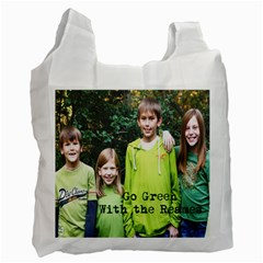Go Green With The Reames By Heather Reames   Recycle Bag (two Side)   H273hd71kwuc   Www Artscow Com Front
