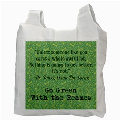 Go Green With The Reames By Heather Reames   Recycle Bag (two Side)   H273hd71kwuc   Www Artscow Com Back