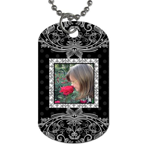 Fancy Single Sided Dog Tag By Klh   Dog Tag (one Side)   2lu6r4g5dwvz   Www Artscow Com Front