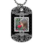 Fancy Single Sided Dog Tag - Dog Tag (One Side)
