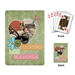 counting blessings playing cards - Playing Cards Single Design