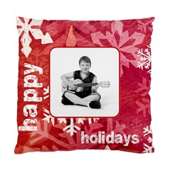 Happy Holidays Peace & Joy Cushion By Catvinnat   Standard Cushion Case (two Sides)   8mifj46e3ce4   Www Artscow Com Front