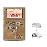 Love Me, Love My Dog  Flip Top Lighter