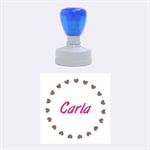 Carla HEARTS - Rubber Stamp Round (Medium)
