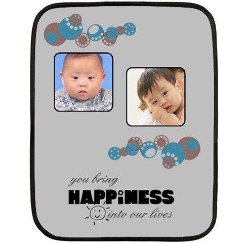 Baby Blue  Blanket By Carmensita   Fleece Blanket (mini)   1ftwls7m26kj   Www Artscow Com 35 x27 Blanket