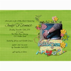 Baby Shower Invitation By Jennifer   5  X 7  Photo Cards   Med8tzqj8mk6   Www Artscow Com 7 x5 Photo Card - 3