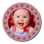 Baby HEARTS - Mousepad - Collage Round Mousepad