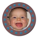 Baby boy  Mousepad - Collage Round Mousepad