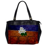 Flowers BAG one side - Oversize Office Handbag (One Side)