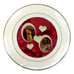 I Heart You pink Wedding Decorative Plate - Porcelain Plate