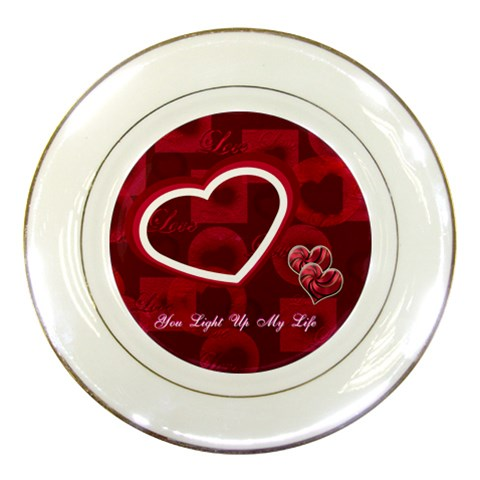 You Light Up My Life Wedding Decorative Plate By Ellan   Porcelain Plate   L734776qli7g   Www Artscow Com Front