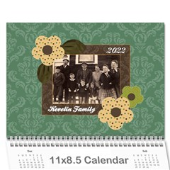 Blue & Brown Heritage 12 Month Calendar By Klh   Wall Calendar 11  X 8 5  (12 Months)   172fqpz4q7i3   Www Artscow Com Cover