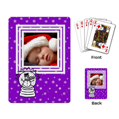 Snowman   Playing Cards By Carmensita   Playing Cards Single Design   0s124yi0edxg   Www Artscow Com Back