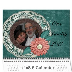 Family Calendar By Bryna   Wall Calendar 11  X 8 5  (12 Months)   V67uetp752ob   Www Artscow Com Cover
