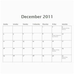 Family Calendar By Bryna   Wall Calendar 11  X 8 5  (12 Months)   V67uetp752ob   Www Artscow Com Dec 2011