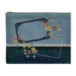 Cosmetic Bag XL- Blue Flowers - Cosmetic Bag (XL)