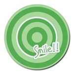 Smile mousepad 01 - Round Mousepad