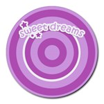 sweet dreams mousepad 01 - Round Mousepad