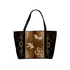 Enjoy The Little Things Brown Swirl Shoulder Handbag By Lil    Classic Shoulder Handbag   Bsq5tlv78eoh   Www Artscow Com Back