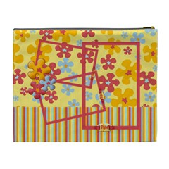 Bright Flowers Love Cosmetic Bag Xl By Mikki   Cosmetic Bag (xl)   3m4g5fsy5b6c   Www Artscow Com Back