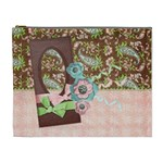 Pink Paisley-cosmetic bag XL - Cosmetic Bag (XL)